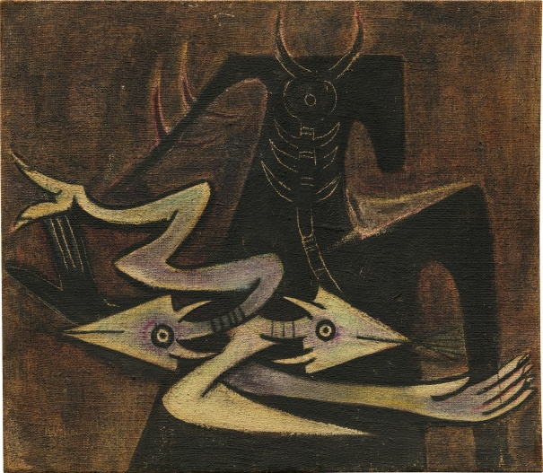 """The Warrior (Personnage avec Lezzard)"" - Wifredo Lam"