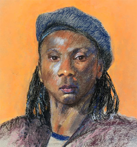 Snapshot of Asilomar pastel portrait 2