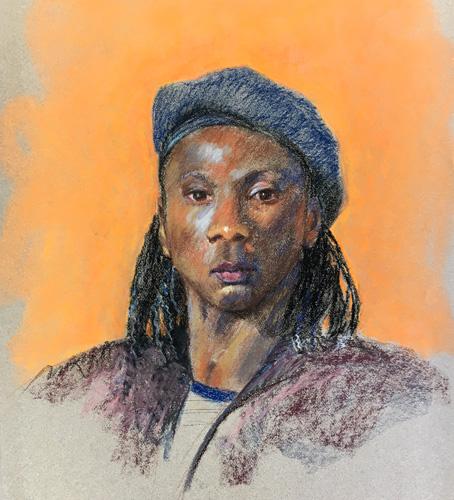 Snapshot of Asilomar pastel portrait